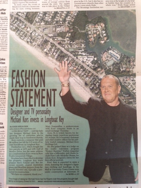 Fashion Statement: Michael Kors invests in Sarasota!